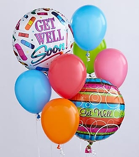 The Get Well Balloon Bunch