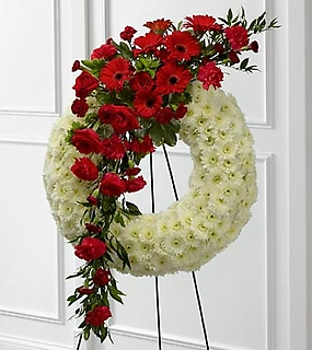 "The Graceful Tributeâ""¢ Wreath"